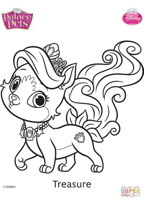 pet coloring pages palace pets treasure coloring page free printable