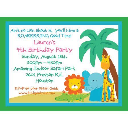 safari birthday invitations ideas bagvania