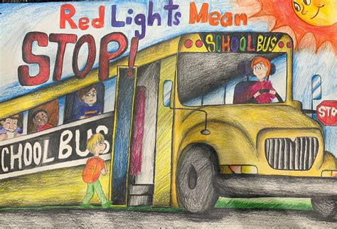 maine students encouraged  participate   school bus safety poster contest maine doe