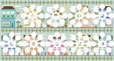 country cottage needleworks cottage of the month october cross stitch pattern 123stitch com country cottage needleworks main street project of the