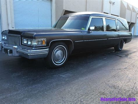 Cars For Sale Port Fl by 1974 Cadillac Fleetwood Hearse Hearse For Sale