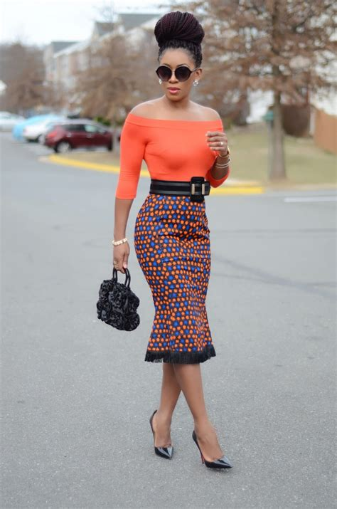 african pencil skirt styles living my bliss instyle off shoulder top ankara skirt