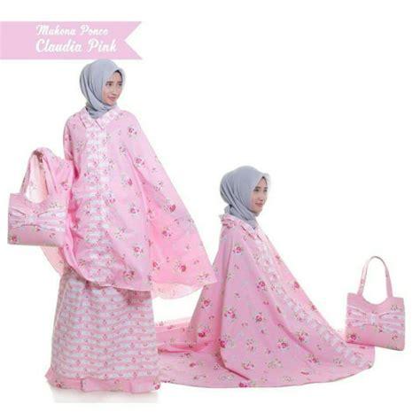 Promo Mukena Dewasa Bahan Katun Hanum jual mukena ponco dewasa katun jepang bunga pink rukuh sholat travelling di lapak sagwa shop