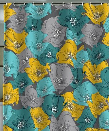 teal and yellow shower curtain deny designs teal yellow bryant park shower curtain
