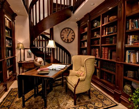 8 home libraries sherlock would feel at home in