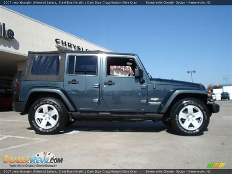 jeep blue grey 2007 jeep wrangler unlimited steel blue metallic