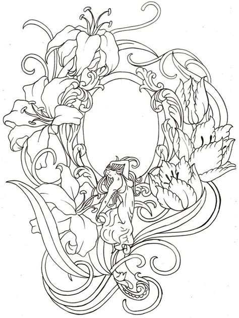 art deco tattoo design nouveau mirror by metacharis on