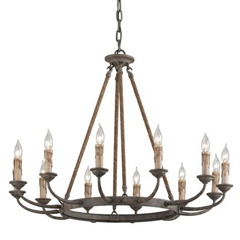 Lodge Chandelier Sturdy Lodge Rope Chandelier 12 Light Shades Of Light