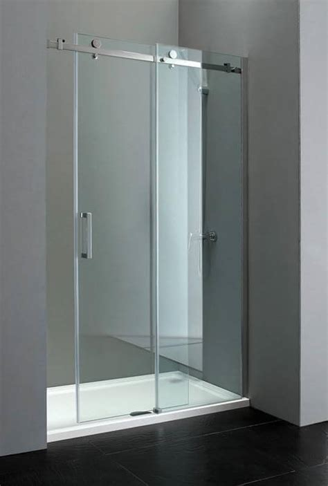 Sliding Frameless Glass Shower Doors Elite 1200mm Frameless Sliding Shower Door 8mm Glass