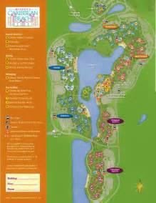 Disney World Caribbean Beach Resort Map by The Villages Of Disney S Caribbean Beach Resort