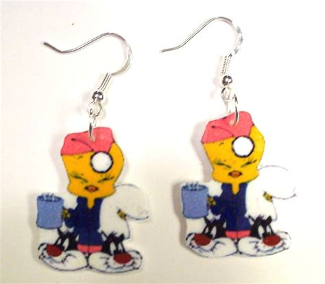 tweety bird earrings disney gift warner bros jewelry