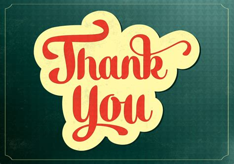 thank you background retro thank you vector background free vector