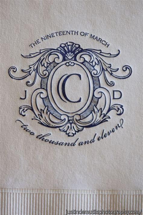 Wedding Napkin Fonts by 103 Best Wedding Logos Monograms Images On