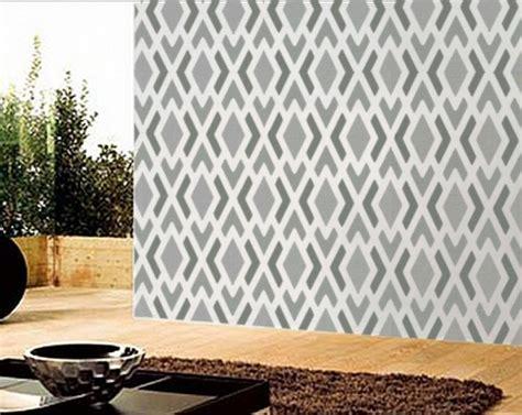 simple pattern on wall modern geometric pattern wall stencil easy reusable diy