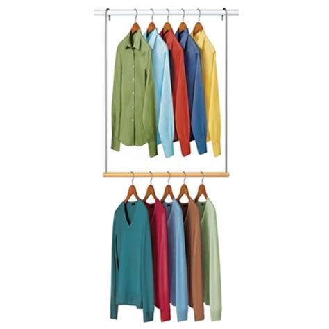 Closet Rod Extender Hanging by Hanging Closet Organizers Storage Clothes Hanger Shelves Racks