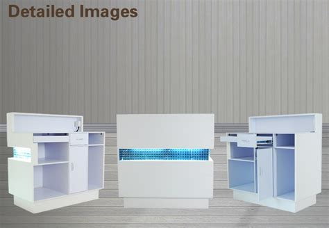 Hair Salon White Reception Desk Cashier Desk Buy Modern White Reception Desk Salon