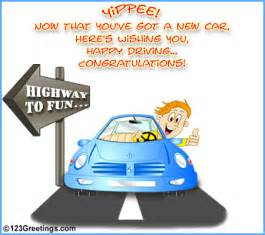 new car message highway to free new car license ecards greeting