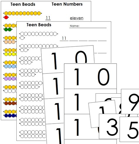 montessori number cards template montessori math extension lessons montessori print shop