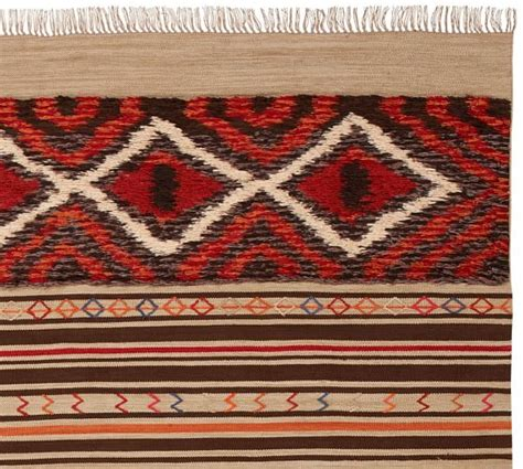 scout rugs scout synthetic kilim rug warm multi pottery barn