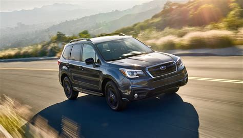 subaru forester 2017 black 2018 subaru forester gets a black edition package the