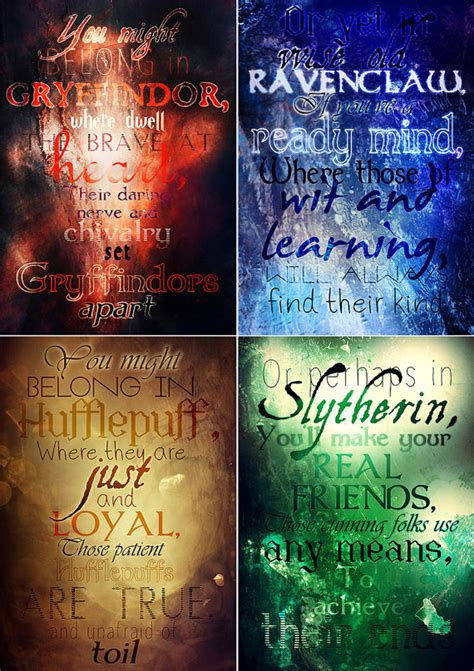 harry potter house traits hogwarts houses gryffindor slytherin ravenclaw hufflepuff printable poster please note