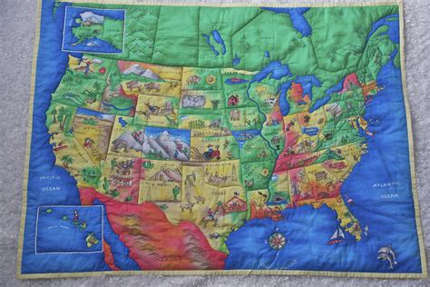 Quilt Usa by Usa Map Quilt Sewing Projects Burdastyle