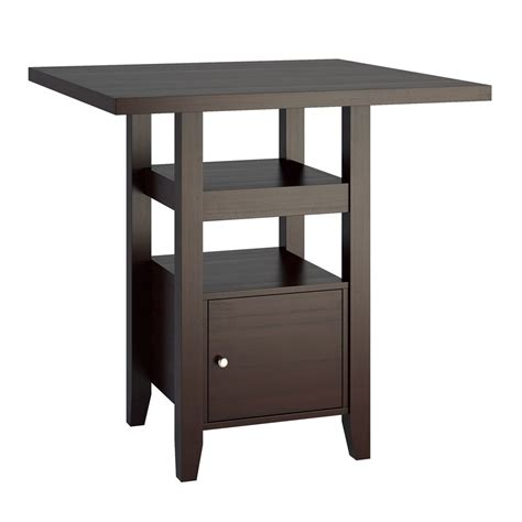 Counter Height Bistro Table Corliving Dpp 690 T Bistro Counter Height Dining Table With Cabinet Lowe S Canada