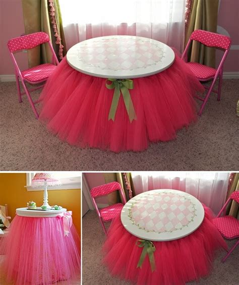 diy table and bed tutu skirts diy craft projects