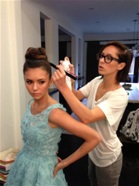 what type of products does riawna capri use beauty how to nina dobrev s braided updo at the golden