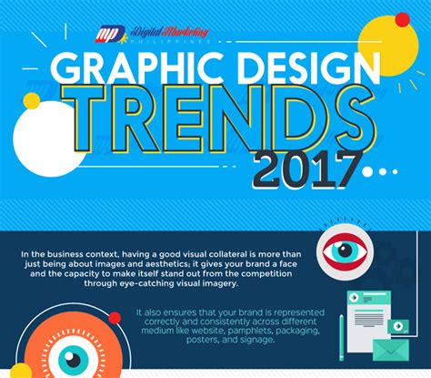 2017 graphic design trends the top 8 graphic design trends in 2017 infographic