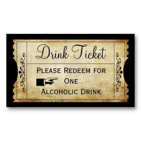 Vintage Wedding Ticket Drink Escort Punch Card Wedding Inspirations Pinterest Vintage Wedding Drink Tickets Template