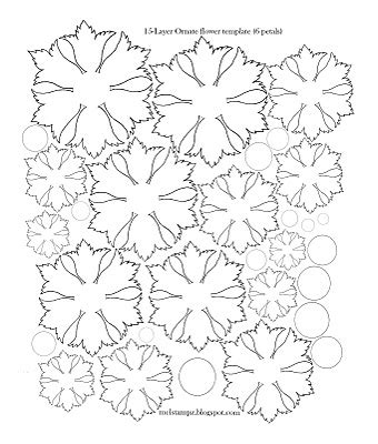 printable fabric flower patterns flower templates this site has all types of flower