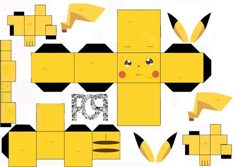 Print Out Paper Crafts - 13 best photos of pikachu papercraft template easy