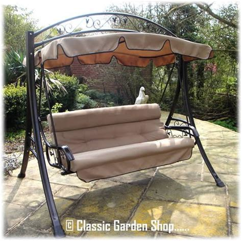 3 seater garden swing cover luxury rimini garden hammock swing seat 3 4 seater from