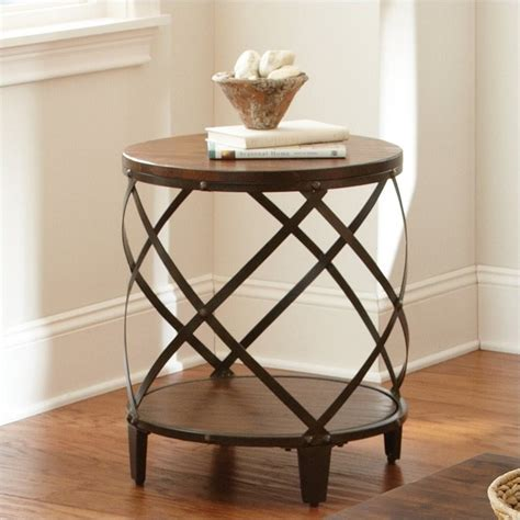 silver barrel side table steve silver company winston end table in distressed