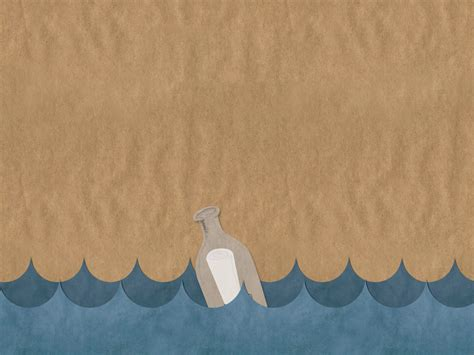 free backdrop templates bottle in the sea powerpoint templates arts blue brown