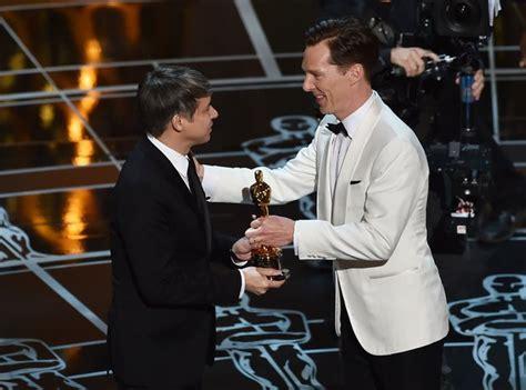 film editing oscar winner 2015 benedict cumberbatch presents the award for best film