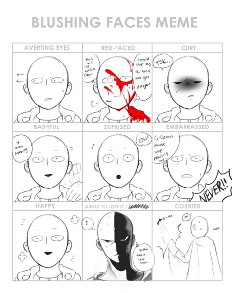 Blush Meme - blushing face meme tumblr