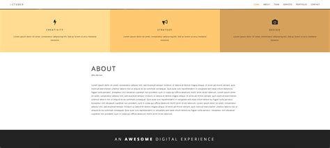 themeforest one page html template october responsive one page html template by rbwebdesign