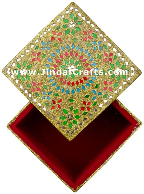 Handmade Indian Crafts - handmade lac decorative jewelry box indian rich crafts