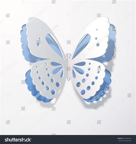 Butterfly Papercraft - lace butterfly cut out paper on stock vector 164663330