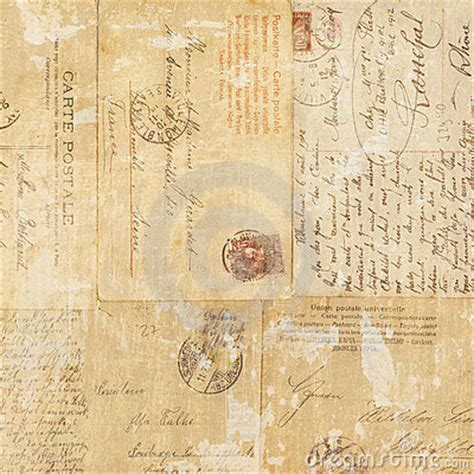 grungy vintage postcard ephemera collage background
