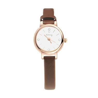 jual fp gogoey 053 jam tangan fashion korea tali kecil brown harga kualitas