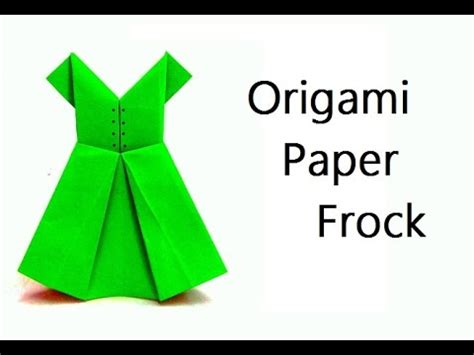 How To Make A Paper N - origami paper frock innovative arts paper crafts