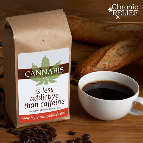 coffee and cannabis books cannabis is less addictive than caffeine chronic relief
