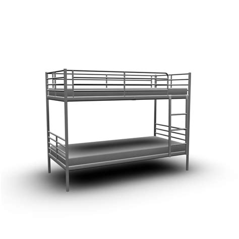 White Bunk Beds Ikea Troms 214 Bunk Bed Frame Design And Decorate Your Room In 3d