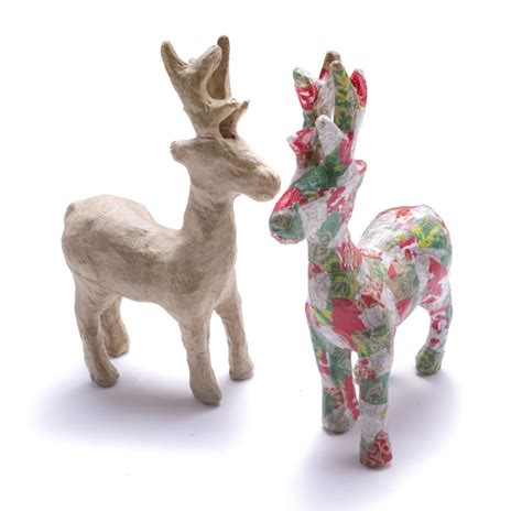 Paper Mache Reindeer Craft - decopatch paper mache reindeer decopatch and paper mache