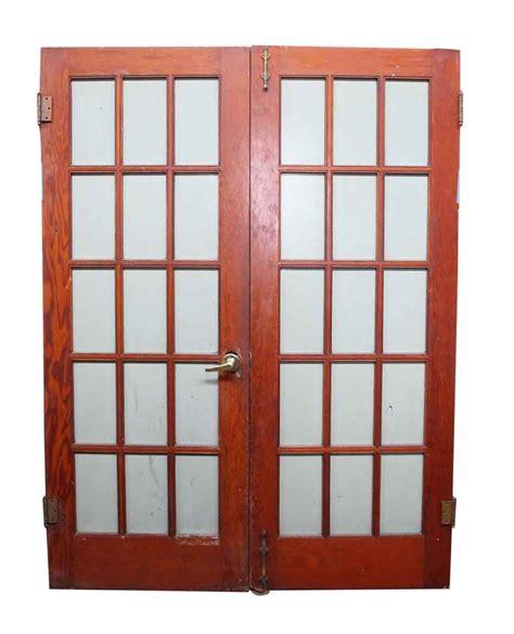 15 Glass Panel Door Pair Of 15 Glass Panel Wood Doors Olde Things