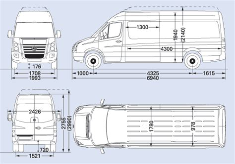 volkswagen crafter dimensions image result for lwb sprinter dimensions cervan ideas
