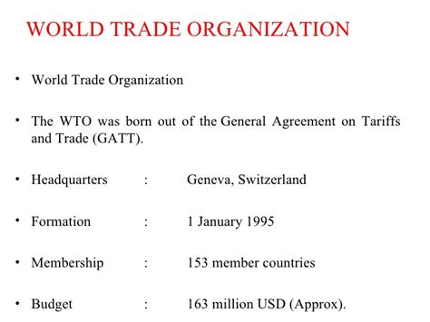 World Trade Organization Research Paper by Research Paper On World Trade Organization